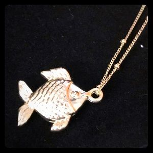 Lilly Pulitzer Fish Charm Necklace, 16""